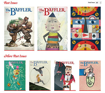 The Baffler's beautiful past issues archive, created by IssueM.