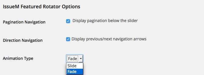 Featured Rotator Options